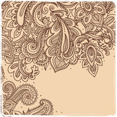 Beautiful Indian paisley ornament — Stock Vector
