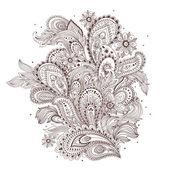美しいインドのペーズリーの飾り — ストックベクタ
