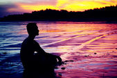 Meditation man — Stock Photo