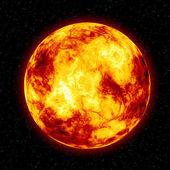 Burning sun illustration — Stock Photo