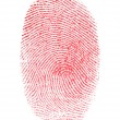 Royalty-Free Stock Photo: Red Fingerprint