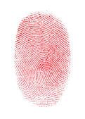 Red Fingerprint — Stock Photo