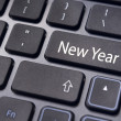 New year message, keyboard pad — Stock Photo #13608278