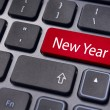 New year message, keyboard pad — Stock Photo #13608289
