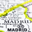 Close up of madrid on map, Spain - 图库照片