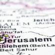 Royalty-Free Stock Photo: Close up of Jerusalem on map, Israel