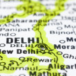 Stock Photo: Close up of Delhi on map, India