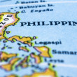 Close up of philippines on map — Stock Photo