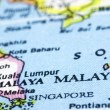 Stock Photo: Close up of malaysion map