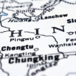 Stock Photo: Close up of Chinon map
