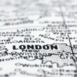 Close up of London on map — Stock Photo