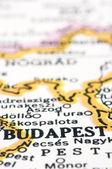 地図上に、ハンガリーのブダペストのクローズ アップ — ストック写真