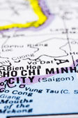 Close up of ho chi minh city on map, Vietnam — Stock Photo