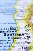 Cerca de santiago, mapa chile — Foto de Stock