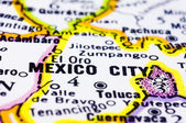 Close up of Mexico city on map, Mexico — Stock Photo