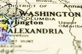 Close up of washington on map, united states — Foto de Stock