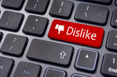 Dislike button for social media — Stock Photo