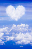 Heart clouds — Stock Photo