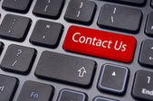 Contact us message on enter key, for online conctact. — Stock Photo