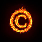 Copyrightmeddelande tecken — Stockfoto