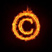 Sinal de aviso de copyright — Foto Stock