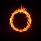 Fire ring or hoop for concepts — Stock Photo