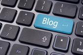 Blog des concepts, message sur le clavier — Photo