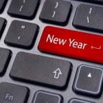 New year message, keyboard pad — Stock Photo #8286454