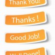 Thank you notes as stickers — Stock Vector #8606656