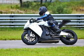 Motorcycle racing — Stock Photo