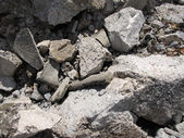 Cement Rock rubble — Stock Photo