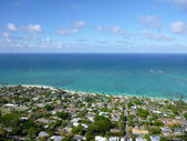 Lanikai town, beach, and Pacific Ocean — Stock Photo