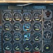 Stock Photo: Jet Airplane Cockpit Equipment