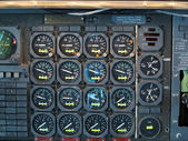 Jet Airplane Cockpit Equipment — Stock Photo