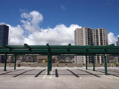 Roof deck of Parking Lot — Stock Photo