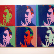 Stock Photo: Set of Six Self-Portraits, Andy Warhol