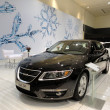 Black Saab 95 on Display — Stock Photo