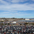 Candlestick Parking lot before the start of 49ers game as — Stock Photo