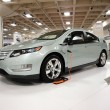 Plug-in Hybrid car the Chevy Volt on display on a spinning platf — Stock Photo
