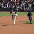 Stock Photo: Giants Andres Torres passes 2nd base as he rounds Bases