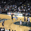 Nevadplayer takes shot as UH player tries to block shot. — Stock Photo #21849271