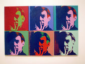 A Set of Six Self-Portraits, Andy Warhol — Stock Photo