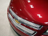 Red Chevy Car Hood — Stock Photo