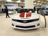 Chevrolet coches en pantalla — Foto de Stock