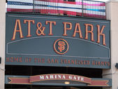 AT&T Park Home of the Giants - Sign — Stockfoto