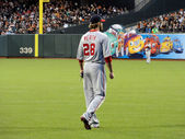 Washington National Right Fielder Jayson Werth stands in the out — Stock Photo