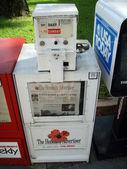 Newspaper dispenser for The Honolulu Advertiser — Stock Photo