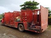可口可乐公司送货卡车从饮料到农村镇滴眼液 — 图库照片