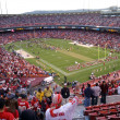 Stock Photo: Fans cheer as 49ers celebrate win on field