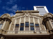Correos Telegrafos Building with Banco Nacional building behind — Stock Photo